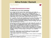 Aktive kvinder i Danmark - 23.11.13