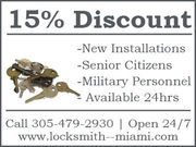 24 Hour Locksmith in Miami,FL - 13.08.13
